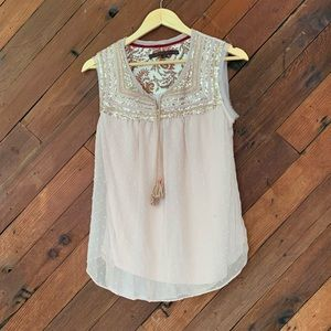 Common Thread detailed tank from Anthropologie